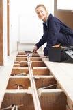 Het vrouwelijke Systeem van Loodgieterfitting central heating royalty-vrije stock afbeelding