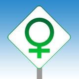Het vrouwelijke teken van het geslachtssymbool Stock Fotografie