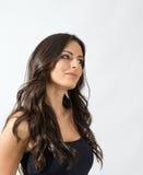 Het vrouwelijke zachte mooie vrouw peinzende weg kijken Royalty-vrije Stock Fotografie