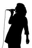 Het vrouwelijke zingen Royalty-vrije Stock Fotografie