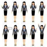 Het vrouwenkarakter in divers stelt, vectorillustratie Royalty-vrije Stock Afbeeldingen