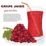 Het vruchtesap van de druif Stock Afbeeldingen