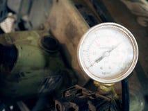 Het vuil op Elektrische meter, sluit omhoog Stock Foto