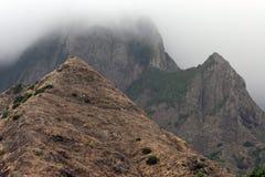 Het vulkanische eiland van La Gomera stock afbeelding