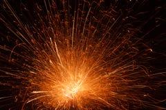 Het vullende kader van de vuurwerkexplosie met vonken Royalty-vrije Stock Afbeeldingen