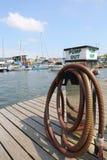 Het Vullende Punt van de Brandstof van de boot Stock Afbeeldingen