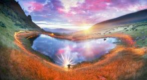 Het vurige hart van de bergen Royalty-vrije Stock Afbeeldingen