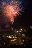 Het Vuurwerk 2008 van Hastings Stock Foto
