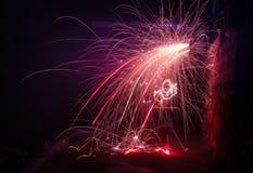 Het vuurwerk Stock Foto's