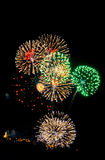 Het vuurwerk Royalty-vrije Stock Fotografie