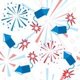 Het vuurwerk naadloos patroon van de vakantie Royalty-vrije Stock Foto