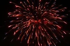 Het vuurwerk straalt uit royalty-vrije stock afbeeldingen