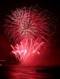 Het vuurwerk toont Royalty-vrije Stock Afbeelding