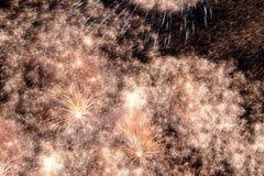 Het vuurwerk toont Stock Foto