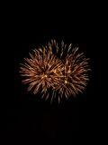 Het vuurwerk toont IX Stock Afbeeldingen