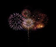 Het vuurwerk van Brillant Stock Afbeeldingen