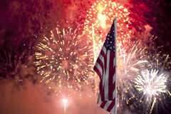 Het Vuurwerk van de Dag van de onafhankelijkheid stock fotografie