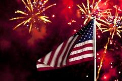 Het Vuurwerk van de Dag van de onafhankelijkheid Stock Foto's