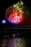 Het Vuurwerk van de Dag van de Onafhankelijkheid van Chicago royalty-vrije stock afbeelding
