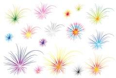 Het vuurwerk van de kleur Royalty-vrije Stock Foto