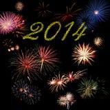 2014 het vuurwerk van de nieuwjaarvakantie Stock Foto