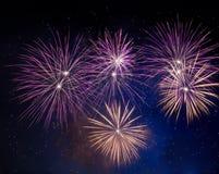 Het vuurwerk van de nieuwjaarviering Stock Fotografie
