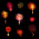 Het vuurwerk van de nieuwjaarviering Stock Foto