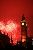 Het Vuurwerk van de oudejaarsavond Royalty-vrije Stock Foto's