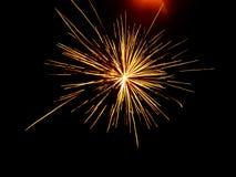 Het vuurwerk van de oudejaarsavond Stock Foto's