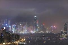 het vuurwerk van de 20ste Verjaardag HK Stock Foto