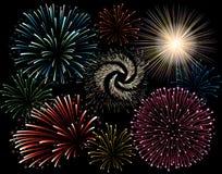 Het vuurwerk van de vakantie Stock Afbeeldingen