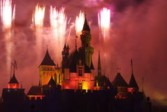 Het vuurwerk van Disney Stock Afbeelding