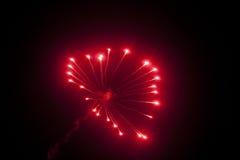 Het vuurwerk van het hart Stock Fotografie