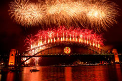 Het Vuurwerk van het nieuwjaar Royalty-vrije Stock Foto's