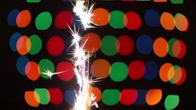 Het vuurwerk van het pyrotechnieksterretje stock footage