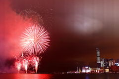 Het Vuurwerk van Hongkong Royalty-vrije Stock Foto's