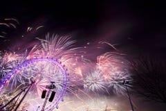 Het Vuurwerk van Londen Royalty-vrije Stock Fotografie