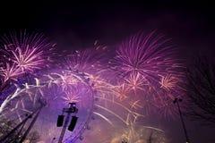 Het Vuurwerk van Londen Stock Afbeeldingen