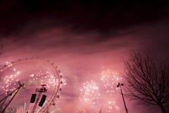 Het Vuurwerk van Londen Royalty-vrije Stock Afbeelding
