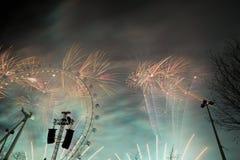 Het Vuurwerk van Londen Royalty-vrije Stock Afbeeldingen