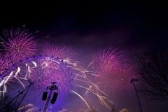 Het Vuurwerk van Londen Stock Foto's