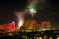 Het Vuurwerk van Nevada van Reno Stock Foto