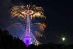 Het vuurwerk van Parijs Stock Foto
