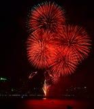Het Vuurwerk van Pattaya van Thailand Stock Foto