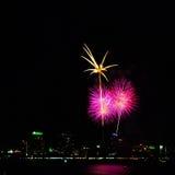 Het Vuurwerk van Pattaya van Thailand Stock Afbeeldingen