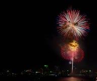 Het Vuurwerk van Pattaya van Thailand Royalty-vrije Stock Foto's