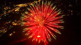 Het vuurwerk van San Antonio toont royalty-vrije stock afbeelding