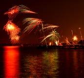 Het vuurwerk van Toronto Royalty-vrije Stock Afbeeldingen