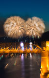 Het vuurwerk van Vancouver Stock Foto's