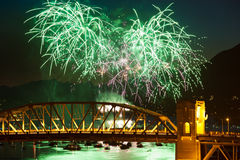 Het vuurwerk van Vancouver Stock Afbeelding